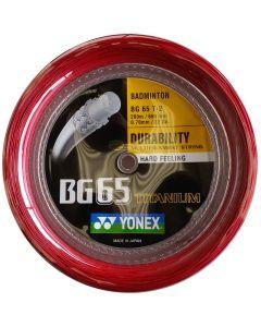 Yonex BG 65 TITANIUM  BADMINTON 200M REEL